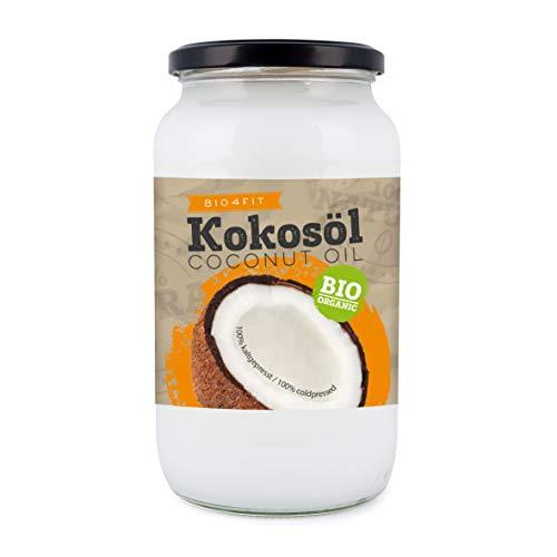 Bio4Fit Kokosöl, nativ im Glas, 1Liter
