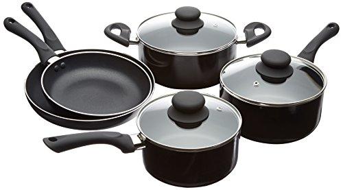 AmazonBasics - Batería de cocina antiadherente (5 piezas)