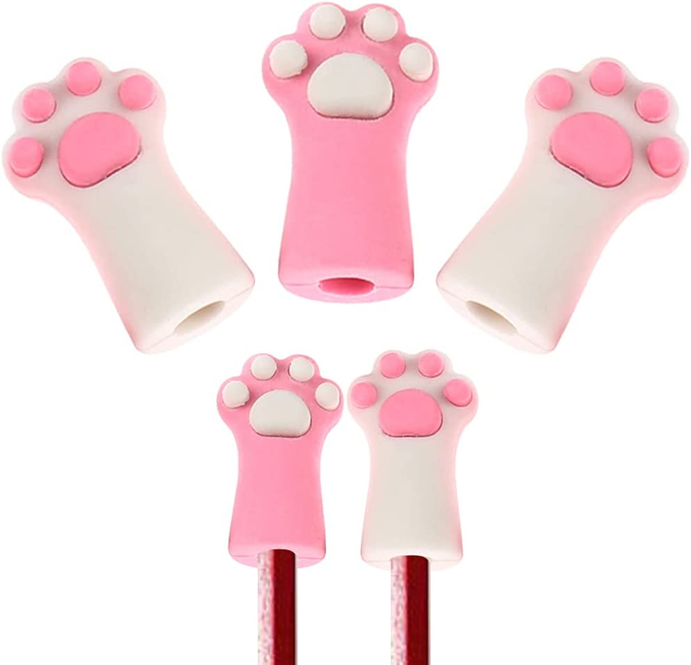 BAUT 3 Pcs Cute Spring new work Cat New popularity Paw Cap Toppers Pencil Kawa Erasers