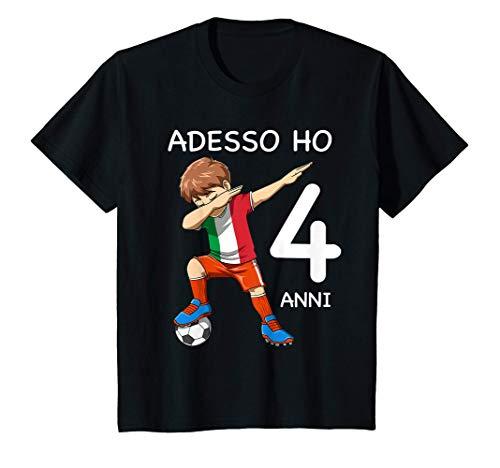 Bambino 4 Compleanno Bambini & Calcio Italia - Regalo Di 4 Anni Maglietta