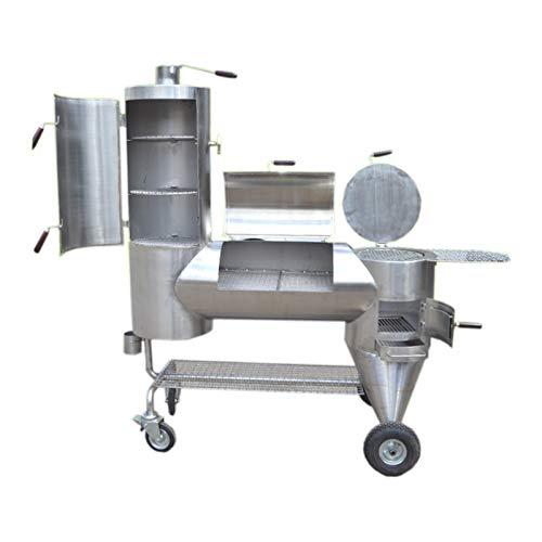 DEWEPRO® Luxus Edelstahl Holzkohle Smoker und BBQ-Grill