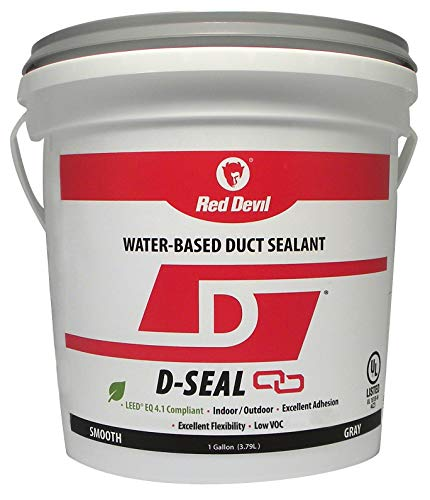 Red Devil 0841DI D-Seal Smooth Water Based Duct Sealant, 1 Gallon, Gray, 2 Pack