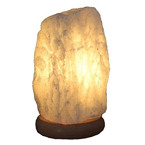 Home Trends and More Bergkristall-Lampe Rohstein Edelsteinlampe, mit Buche Sockel