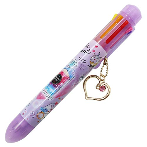 チャーム付き 8色 ボールペン[ファンタスティックユニコーン]筆記具/2020SS