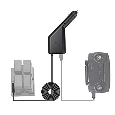 RCGEEK Compatible DJI Spark Car Charger Intelligent Charger Adapter with 3ft Long Cable 3 Battery and 1 Transmitter Fast Charging Compatible DJI Spark Charging Hub