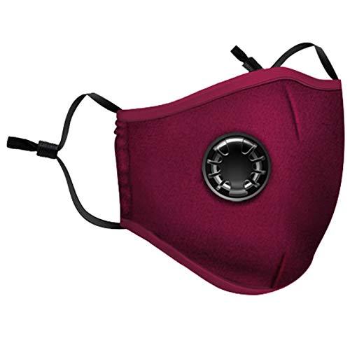 Mascarilla de boca, reutilizable, mascarilla de proteccion polvo,máscara de carbón Activado, protección respiratoria, con Filtro de algodón y válvula de respiración