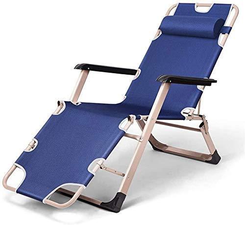 WJXBoos Sillas de jardín reclinables para personas pesadas Césped de playa al aire libre Camping Silla plegable portátil Tumbonas de gravedad Soportes 260 kg (color: gris, Dimensiones: stand 260 kg)