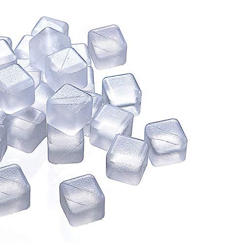 PINSUKO Reusable Plastic Ice Cubes (pack of 20 white)