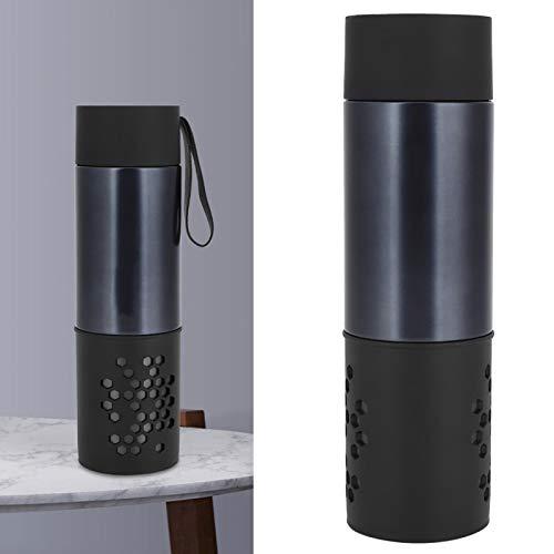 Annjom Taza de Viaje de 360 ml, Taza de Acero Inoxidable, Botella de infusor de té, para Viajes, Oficina en casa, Exterior