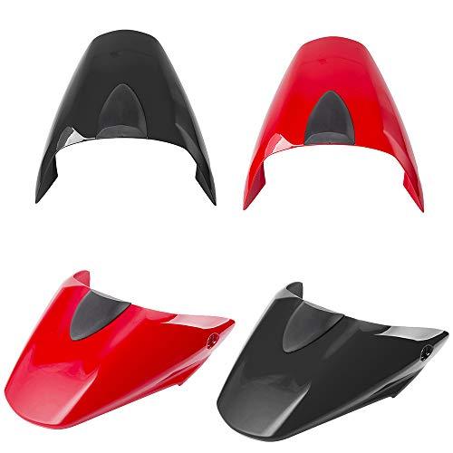 Motocicletta Copri sedile passeggero copri passeggero per motocicletta posteriore 2009-2012 Ducati 796 795 M1100 696 2010 2011 (rosso)