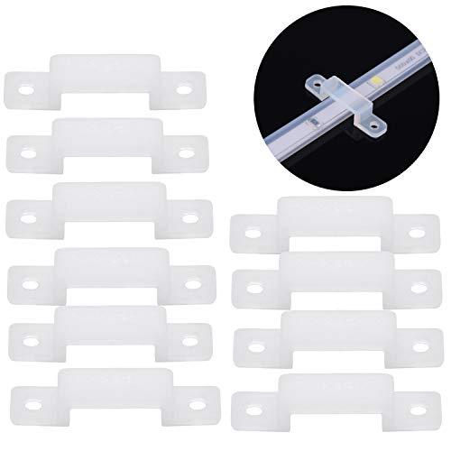 zanasta (20 Stück) LED Streifen Befestigung für 14mm | Strip Halter Verbindungsstück, flexibles Silikon