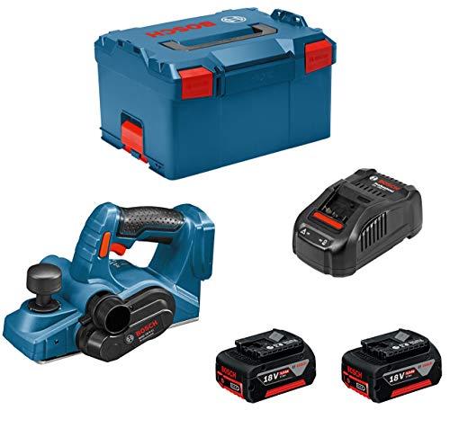 Bosch Professional GHO 18 V-LI - Cepillo a batería (2 baterías x 5.0 Ah, 18V,...