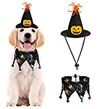 Mascota Disfraz de Halloween Disfraz de Gato Collar Capa, Bandana para perro de Halloween, gorro de mascota, sombrero de mago para mascotas, perro, gato, fiesta de Halloween