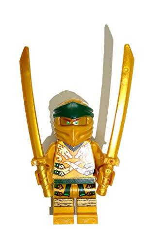 LEGO Ninjago Minifigur Lloyd - Goldener Ninja / Golden Ninja mit Bonus Waffen