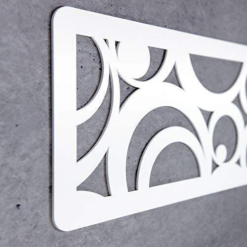 MEGADECOR Cabecero Cama PVC 10mm 3D Decorativo Económico. Holland (150cm x 60cm, Blanco)
