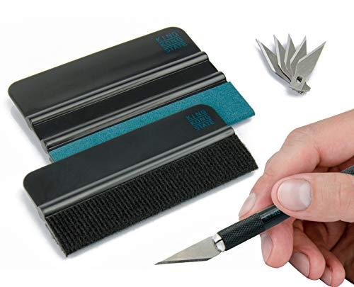 Rakel-Set von KING KONG STATE ® - hochwertiges Folierungs-Werkzeug-Set mit Präzisionsmesser und Folienrakel