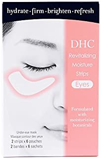 DHC Revitalizing Moisture Strips: Eyes (2 Count), Gel Strip Masks, 6 Applications Each