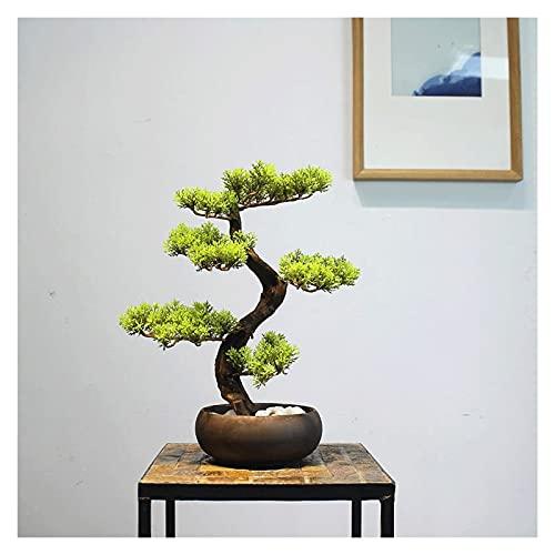 Decoración Árbol de Bonsai Artificial, Plantas de Casa Artificiales Potted Potted, Plantas Hermosas Bonsai Pine Bonsai, Plantas de árboles de Bonsai Fake For Garden Balcony Decor Plantas falsas
