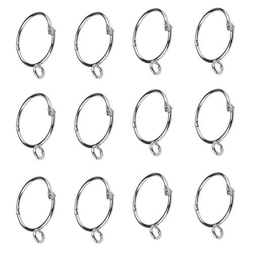 FAKEME 12 Peças de Anéis de Cortina de Cortina de Ferro Inoxidável com Design de Abertura