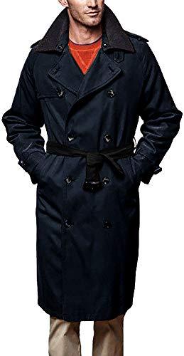 LONDON FOG Men's Iconic Trench Coat, Dark Navy, 42