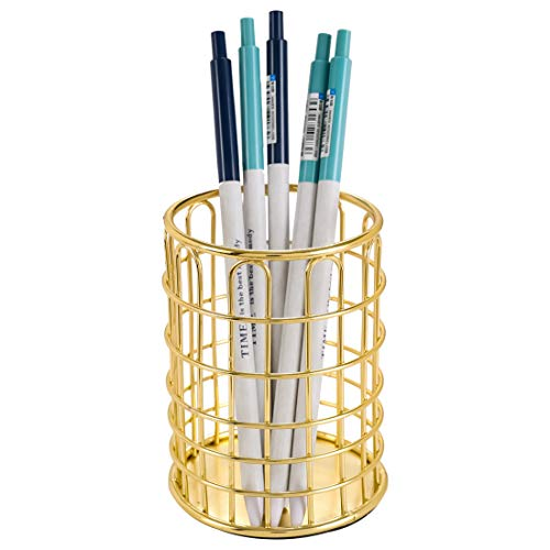 Superbpag Pen Pencil Holders Gold Office Pencil Organizers for Desk, Gold