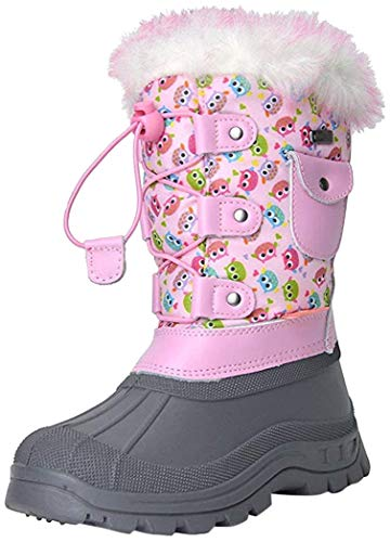 Western Chief Girl's Waterproof Printed Rain Boot with Easy Pull on Handles, Khloe The Kitty, 8 M US Toddler