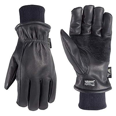 Men's Insulated Leather Water-Resistant Winter Work Gloves, Medium (Wells Lamont 1202MK)