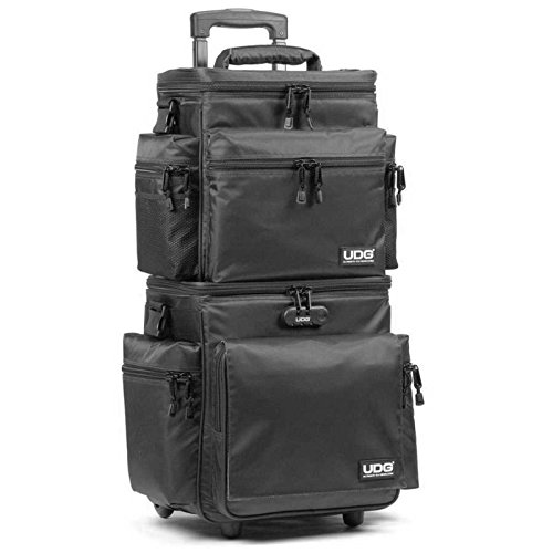 UDG Ultimate SlingBag Trolley Set DeLuxe Black/Orange Inside MK2 (U9679BL/OR), Nero / interno Arancione