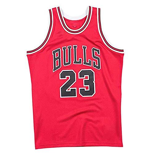 Michael Jordan Chicago Bulls 23# Retired Basketball Jersey, 85 Commemorative Edition 98 Finals Trikots Ect, Mesh-Fans Ausbildung Favoriten Jordan Vest red-XXL