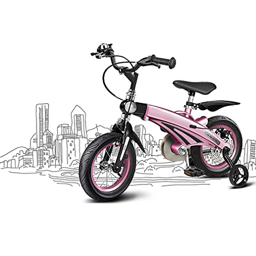 DHMKL 12/14/16 Inch Retractable Kids Bike Children'S Bicycles Lightweight Magnesium Alloy Mountain Bike Handlebar Frame And Seat Can Be Retractable Suitable For Children Aged 2-11