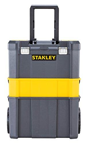 STANLEY STST1-80151 - Taller móvil para herramientas 3 en 1 con cierres metálicos, capacidad 20 kg