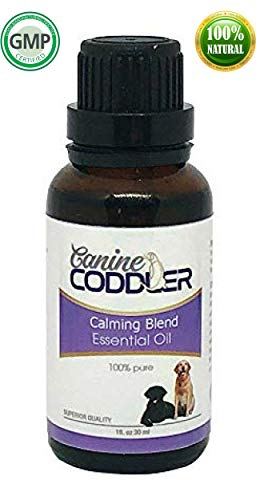 Calming Essential Oils for Dogs | Aromatherapy Treatment for Dogs | Calming Blend | to Reduce Stress Separation Anxiety Ease and Calm (Calming Blend) |1oz - 30ml |