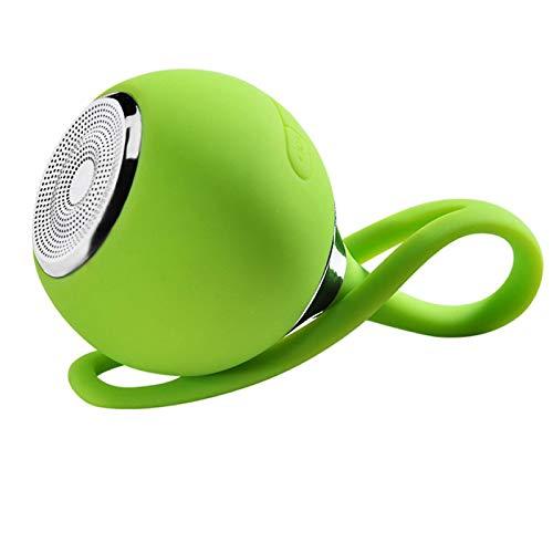 QAZW Mini Radio estéreo de Manos Libres Altavoz Bluetooth Ducha con Potente Sonido Fuerte Altavoz Bluetooth Inalámbrico para Fiestas, Piscina, Playa, Viajes,Green