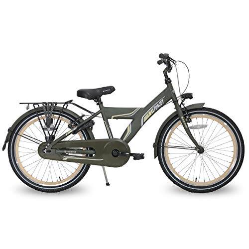 Hiland 22 Inch City Bike for Teenagers Young People Beach Cruiser Bike Students' Commuting Bicycle with Rear Rack