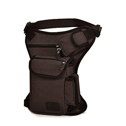LZDseller01 - Bolsa de lona para pierna de senderismo o senderismo, para exteriores, muslo, muslo, bolsa de viaje, bolsa de viaje, bolsa de deporte, mochila de viaje, mochila de viaje para moterbike ciclismo y camping, No nulo, marrón