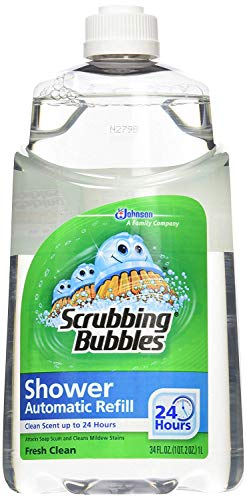 Scrubbing Bubbles Automatic Shower Cleaner Refill - Original Fresh Clean Scent - 34 oz (Pack of 2)