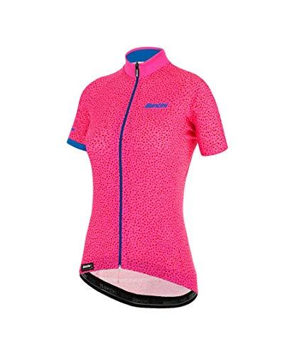 Santini Damen Giada Hip Jersey Kurzarm, Pink, S