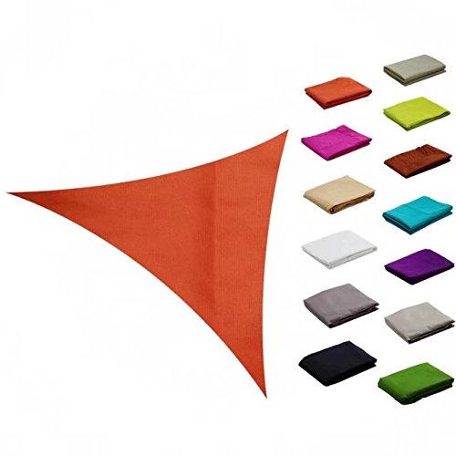e.share 10ft10ft10ft Orange Sun Shade Sail Outdoor Canopy with Panel