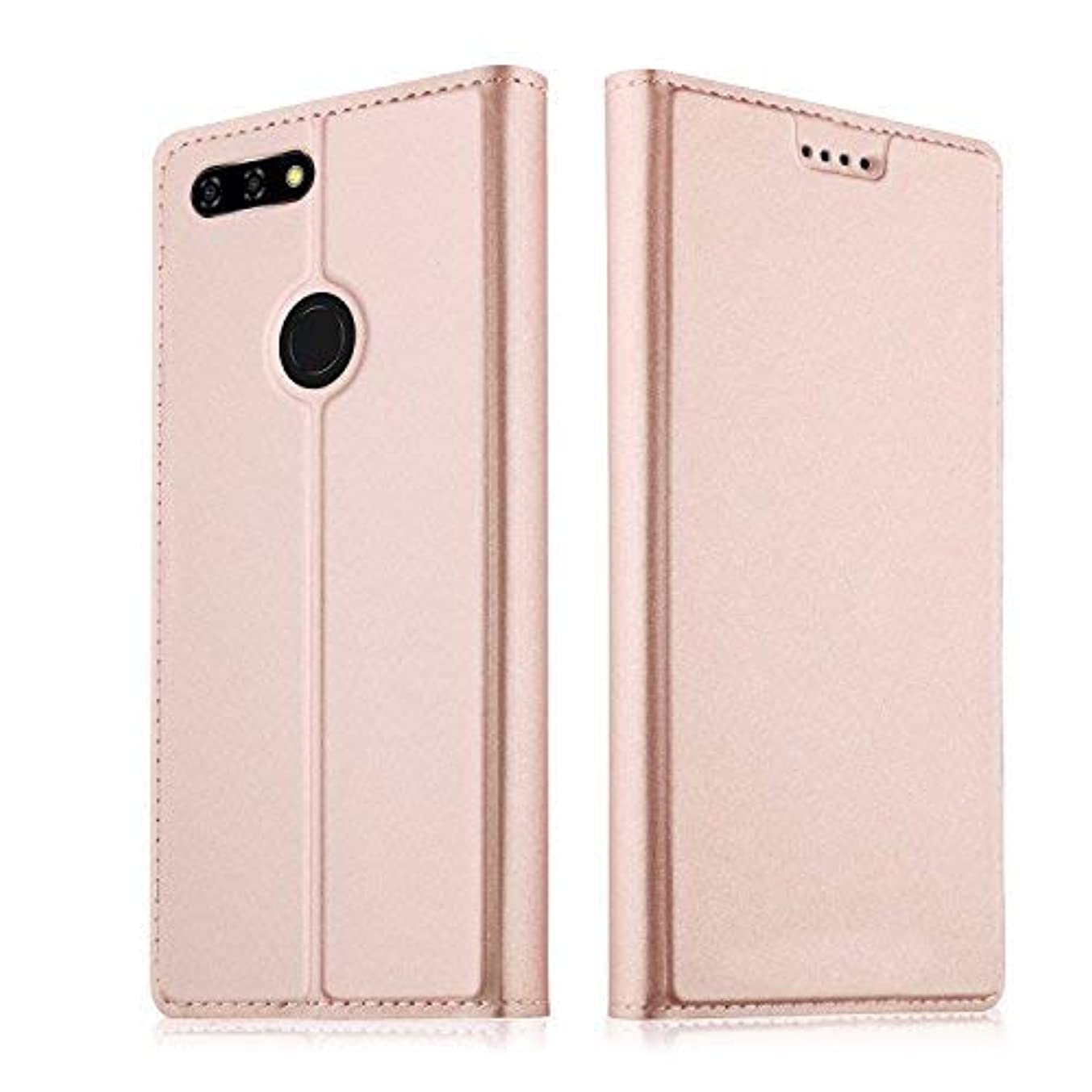Blu Vivo X Case,CSTM Premium PU Leather & TPU Case Card Slot Ultra Slim Flip Cover Case Protective Sleeves with Stand Holder for Blu Vivo X (Rose Gold)