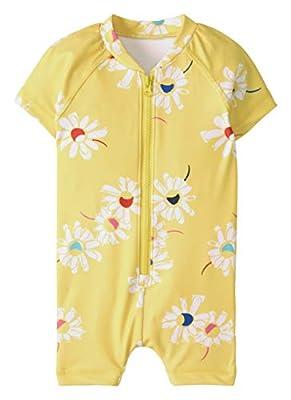 Hanna Andersson Summer Sweet Rash Guard Suit Swedish Yellow - 80