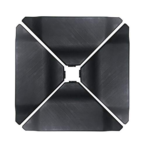 Abba Patio Cantilever Offset Umbrella Base Plate Set, Pack of 4, Black (Renewed)
