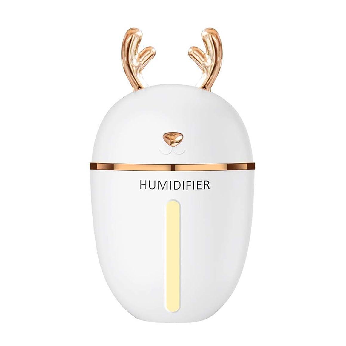 原理ハウジングオーチャードLZAQ 加湿器usbミストmenglu ledインテークライト280ミリリットルポータブルエアアロマディフューザーモイスチャライザースプレー静かな操作寝室子供ベビールームミニ加湿器 TTT001 (Color : White)