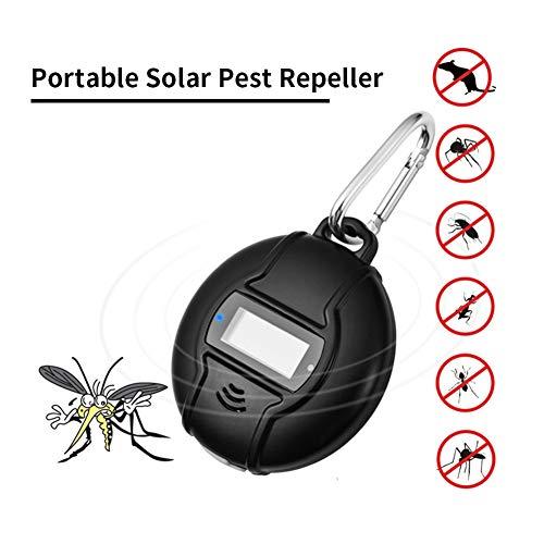 KAR Portable Ultraschall Schädlingsbekämpfer Solar & USB Outdoor-Mückenschutz Ungiftiger Mensch & Haustier Sicher