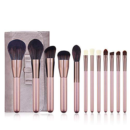 Maquillage Pinceaux, Outils Professionnels Maquillage 12Pcs Kits Ensemble Complet De Beauté Cosmétiques Pour La Fondation Kabuki Fard À Paupières Correcteur Brosses Cosmétiques,Violet
