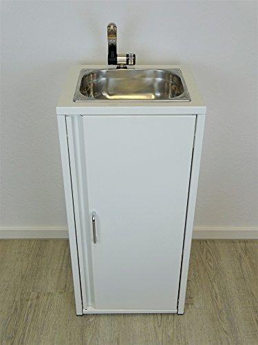 Lavabo portátil Blanco Incluye fregadero de acero inoxidable/listo para usar/, Bomba sumergible,...