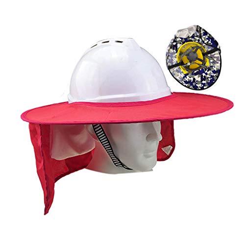 Verano Sombreros Duros de Sombra Transpirable Diseño Bolsa de Almacenamiento Oculta Sombrero Largo Cortina Que Cubre El Cuello Y Los Hombros Sombreros Duros de Ala Completa Construcción de Ingenierí