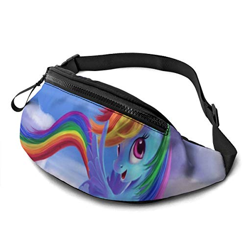 Rainbow Dash My Little Pony Friendship is Magic Casual Waist Bag Men Women with Adjustable with Adjustable Belt Sports Bag Running Bag Keep Fit with Exercise Jogging, Hiking Chest Pack Shoulder Bag