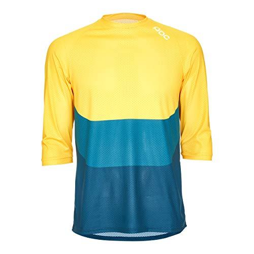 POC Herren Essential Enduro 3/4 Light Jersey, Sulphite Multi Yellow, XLG