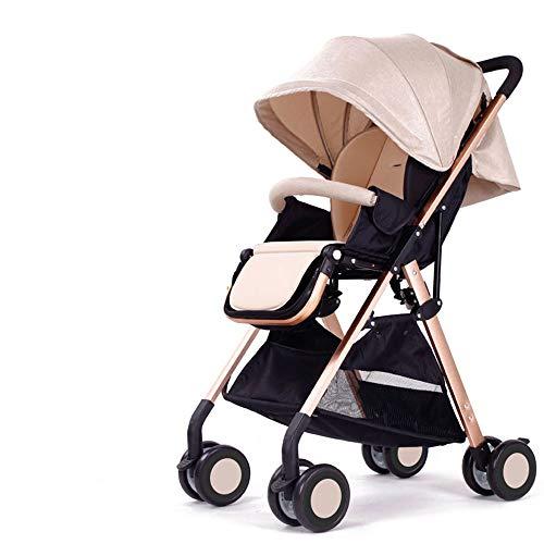DGHJK Kinderwagen mit Buggy, extra Leichter Komfort,Travel Buggy,Einhand-Faltmechanismus,mit Sonnenverdeck Regenverdeck,5-Punkt-Sicherheitsgurt,für Jungen und Mädchen ab 0 Monate -3Jahre