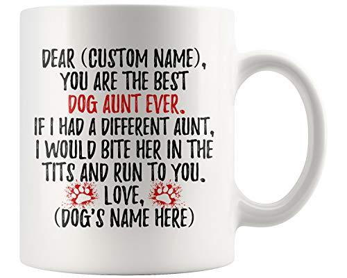 Personalized Dog Aunt Mug, Dog Aunt Present, Dog Aunt Coffee Mug, K9 Aunt, Aunt Dog Owner, Aunt Of Dogs, Dog Auntie Mug (11 oz)